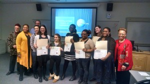 Winners of 2015 International Poetry & Storytelling Competition for High School Students, with Keynote Poets!