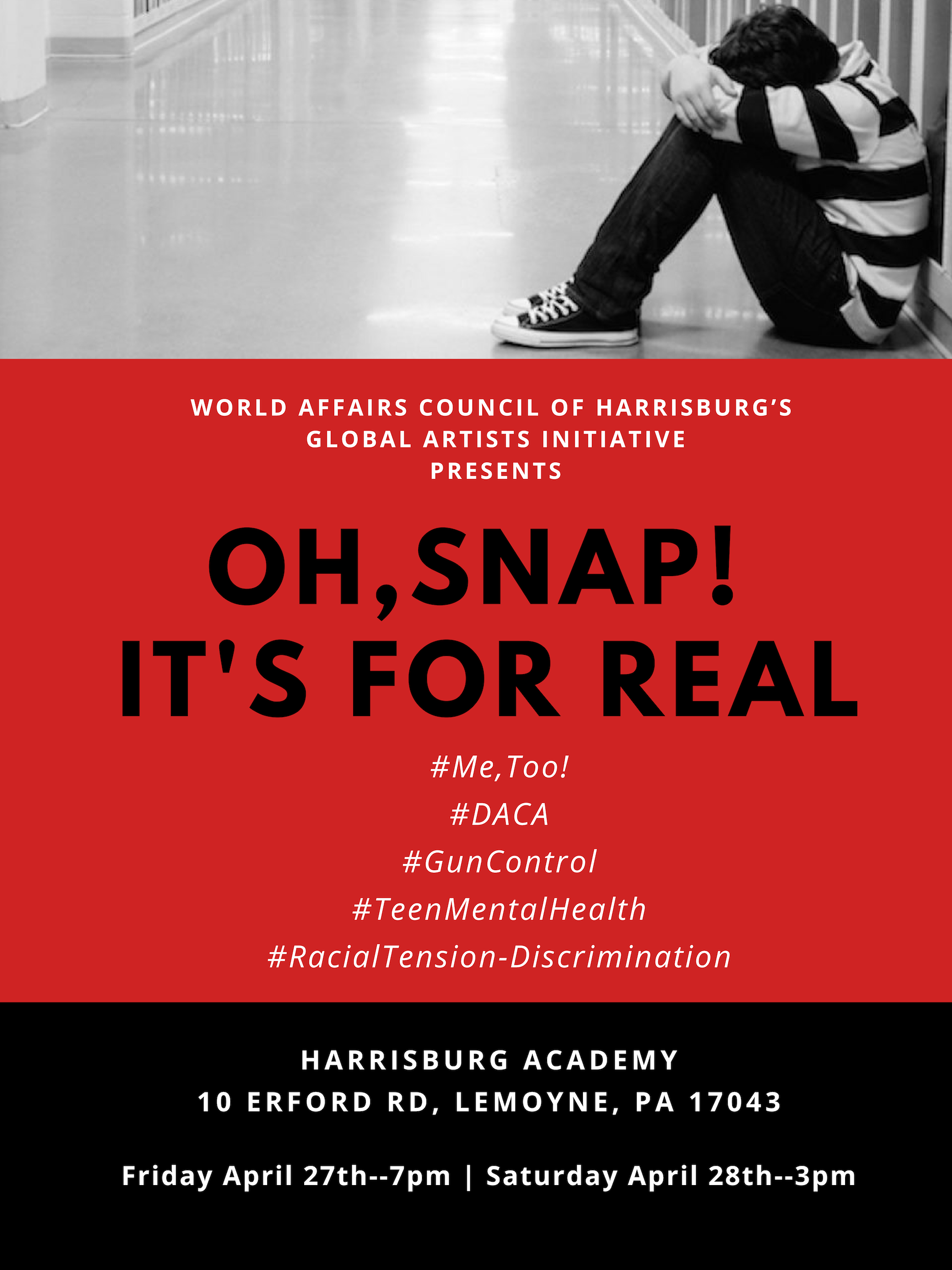 TICKETS ON SALE NOW: OH, SNAP! IT'S FOR REAL– APRIL 26-27, 2019!