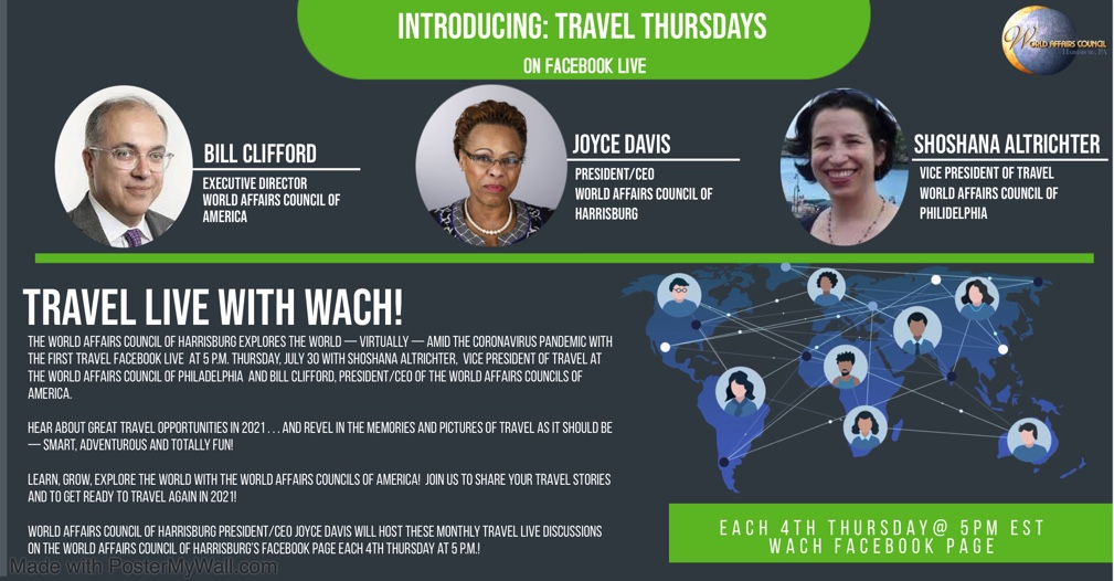 "See Our First ""Travel Thursdays"" on Facebook Live!"