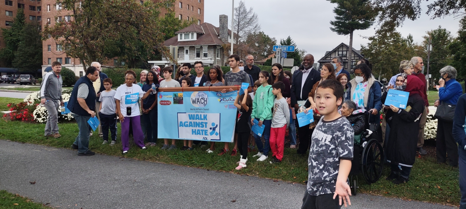 Thanks to all who joined us for the Walk Against Hate